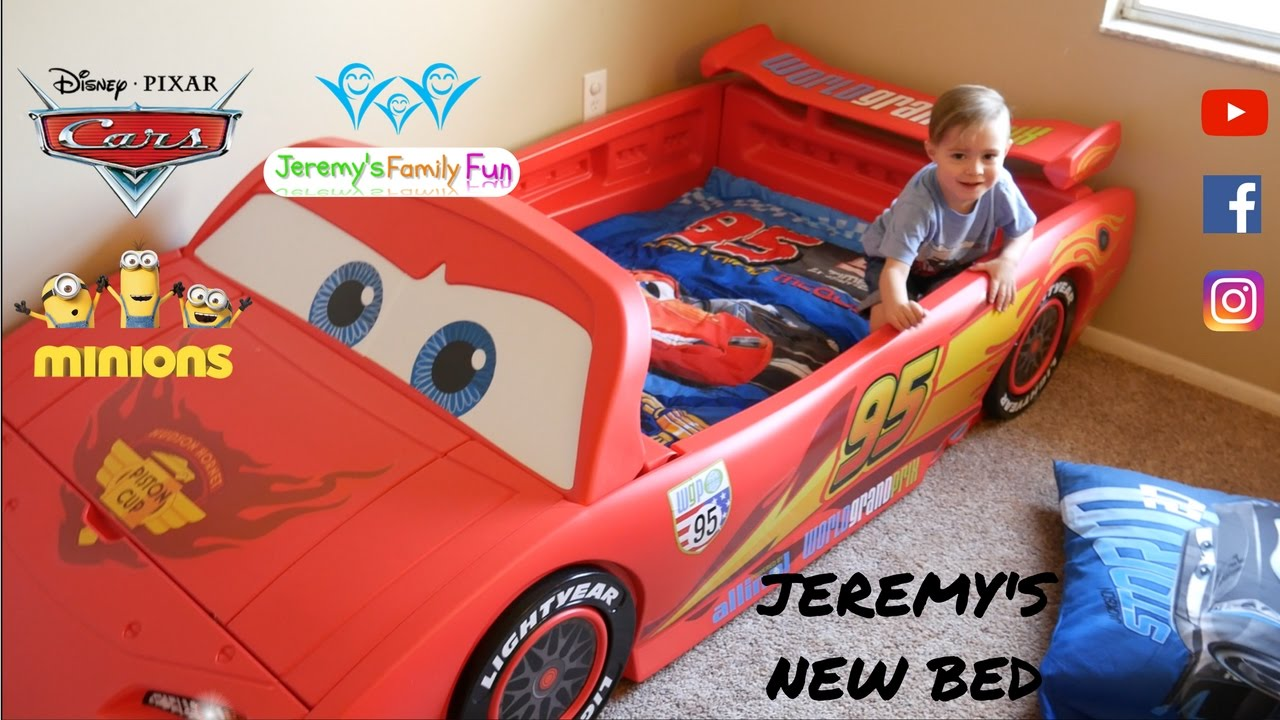 Cars Toddler Bed Set: Jeremy's New Disney Pixar Cars 2 Lightning Mcqueen Kids