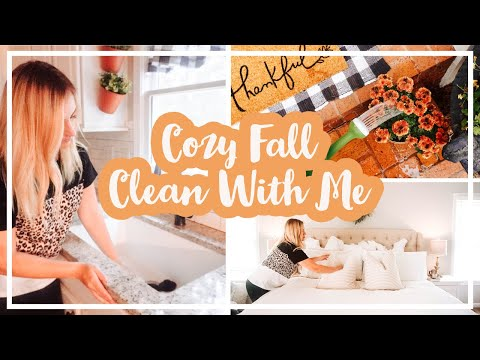 🍂COZY FALL CLEAN WITH ME | EVERYDAY CLEANING MOTIVATION 2019 | CLEANING ROUTINE