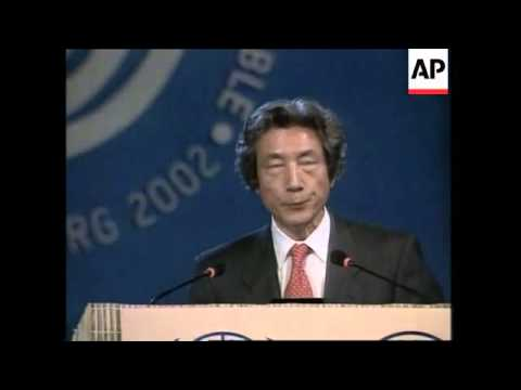 Japanese PM's address to the Earth Summit