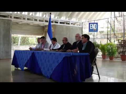 Representantes del Gobierno de Nicaragua dan a conocer comunicado sobre el diálogo