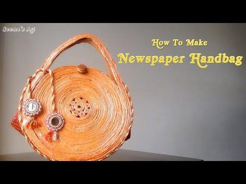 How To Make Newspaper Handbag | DIY