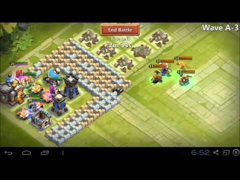 Castle Clash - Farming HBM Wave A