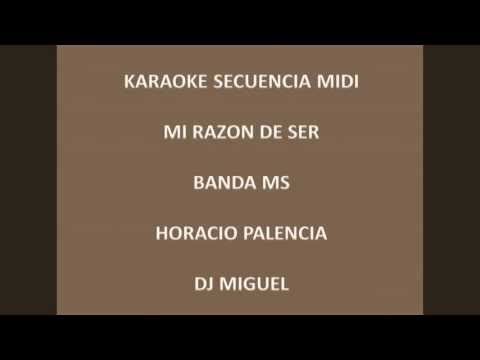 mi razon de ser - banda ms karaoke