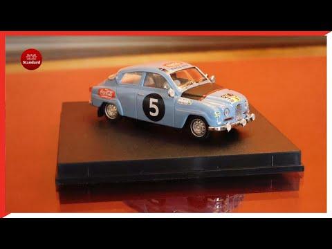 UK Prime Minister Boris Johnson gifts Kenya's President Uhuru Kenyatta a miniature antique car