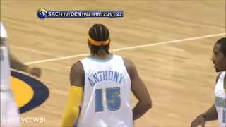 Allen Iverson, Carmelo Anthony Full Highlights vs Sacremento Kings (2008) *Melo 47pts!