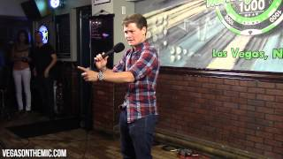 Drew Lynch Stuttering Comedian from America s Got Talent 2015 on Vegas On The Mic