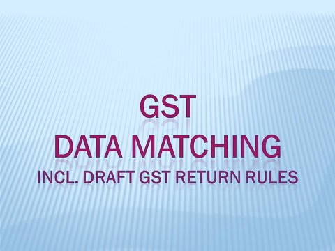 GST - Matching of Input Tax Credit, Output Tax LIability, ECommerce Data