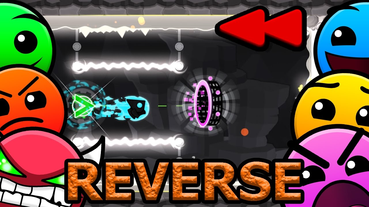 Download REVERSED Geometry Dash 2.1 All Levels (1-21) [Latest Coins, Reverse]