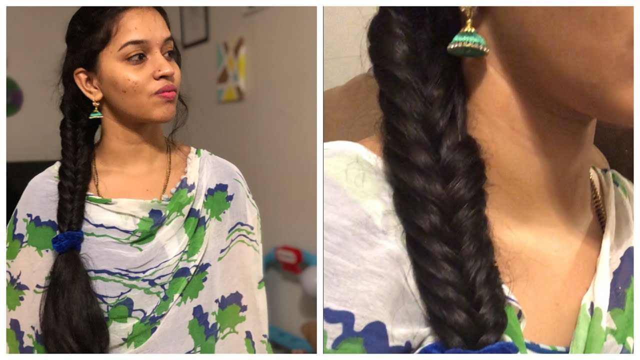 Fishtail Braid For Beginners Easy Hairstyle For Sarees And Chudidars Youtube