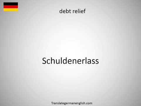 How to say debt refinancing in German?