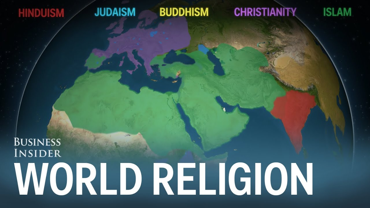 Animated map shows how religion spread around the world - YouTube