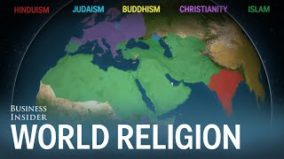 Animated map shows how religion spread around the world thumbnail
