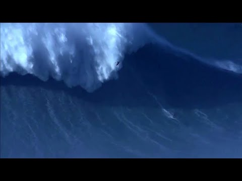 Surfer Breaks World Record for Biggest Wave Surfed