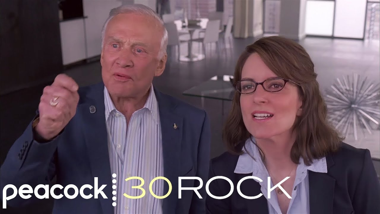 30 Rock – Yelling At The Moon With Buzz Aldrin - YouTube
