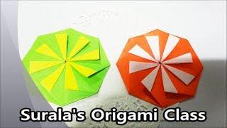 Origami - Octagon Coaster & Ornament / 종이접기- 팔각 컵 받침 & 장식품