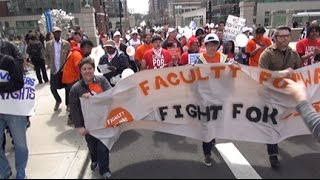 Labor Beat: Adjuncts Fight for 15K Loyola Rally