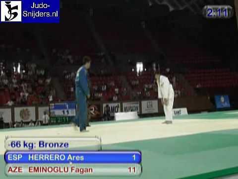 Judo 2009 Yerevan: Herrero (ESP) - Eminglu (AZE) [-66kg].