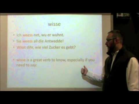 PA Dutch 101: Video 14 - to know