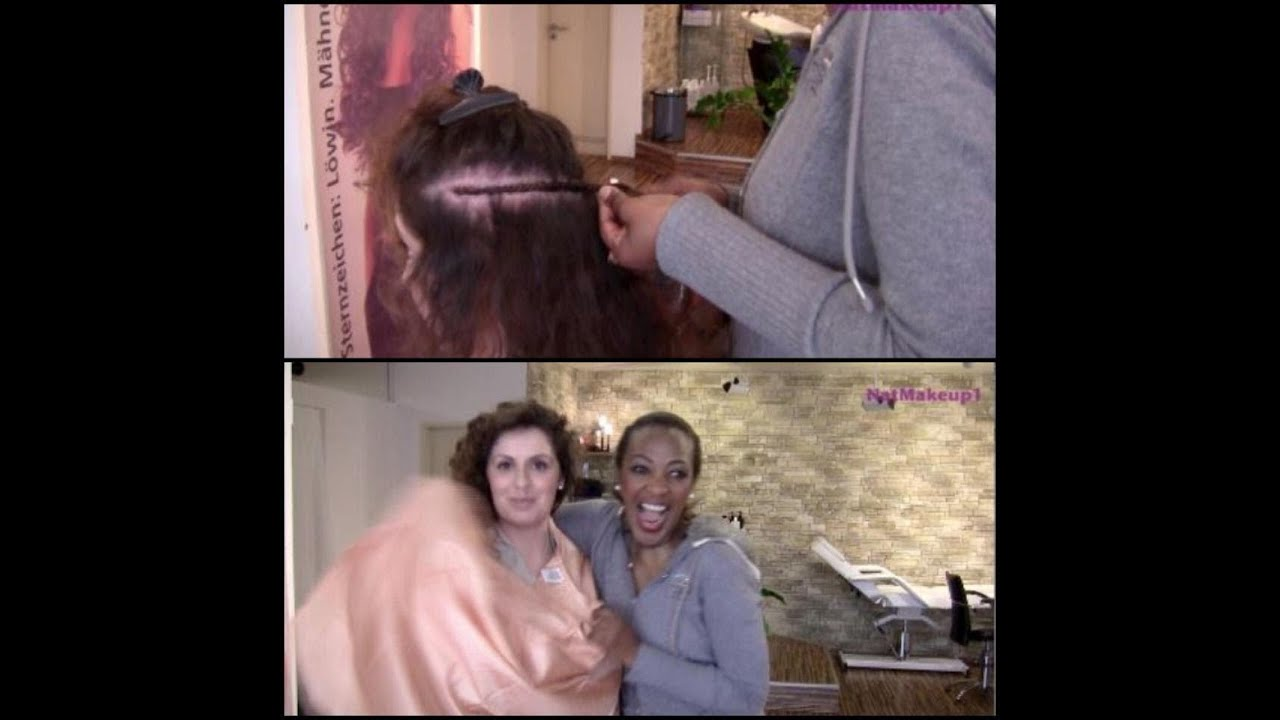 Haarverlangerung tressen einnahen berlin