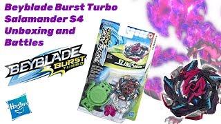 Salamander S4 Hasbro Beyblade Burst Turbo Unboxing