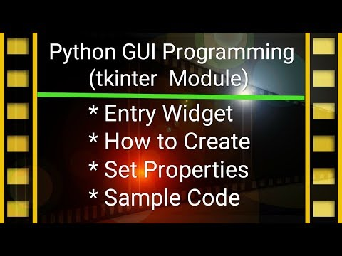 Python GUI Programming Tutorial in Hindi #4 | tkinter & Entry Widget thumbnail