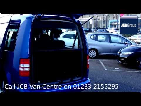 2014 Volkswagen Caddy Maxi C20 LIFE TDI 1.6l Blue GL64GKX for sale at JCB Van Centre Ashford