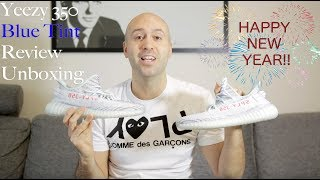 cca2b513d541 Yeezy Boost 350 V2 Blue Tint - Unboxing + Review + On Feet - Mr Stoltz