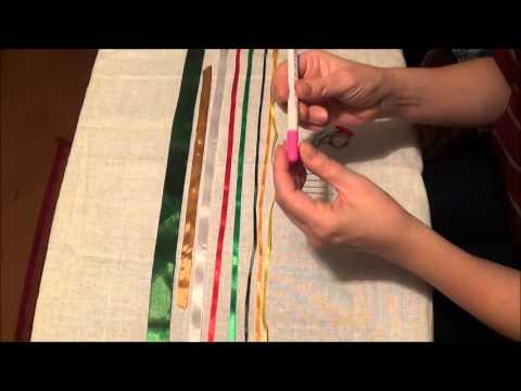 Инструмент для вышивки лентами