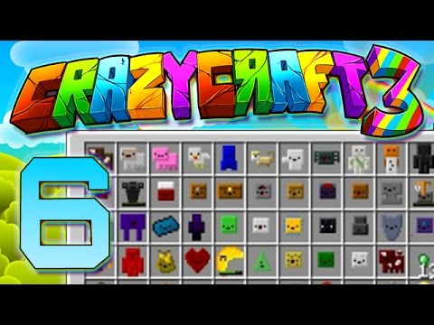 """Minecraft Crazy Craft 3.0 THE FINAL 10: """"ALL INVENTORY PETS, NEW ROOM"""" #6 (Modded SMP)"""
