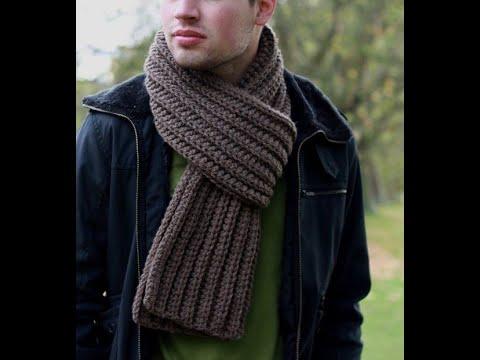Схема для мужского шарфа крючком