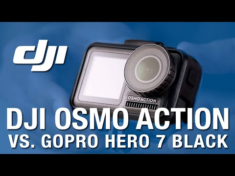 DJI OSMO ACTION vs GoPro Hero 7 BLACK + skateboard FAIL
