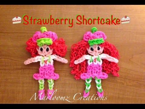Rainbow Loom Strawberry Shortcake Updated Youtube