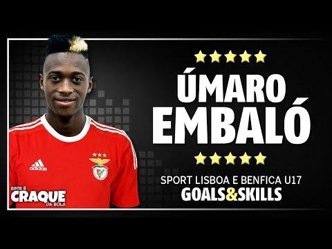 ÚMARO EMBALÓ ● SL Benfica U17 ● Goals & Skills