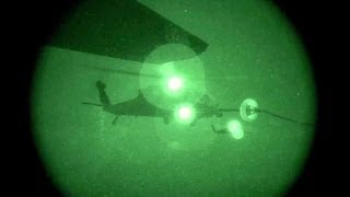 HH-60G Helicopters Night Aerial Refueling with HC-130