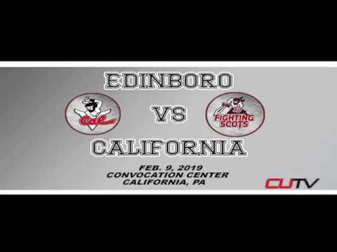 Highlights of Cal U vs Edinboro (Feb. 9, 2019)