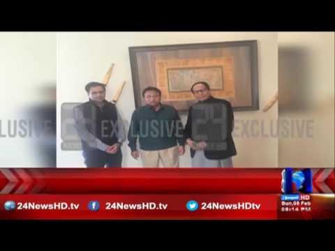 PML Q's Chaudhry Shujaat meets pervez Musharraf