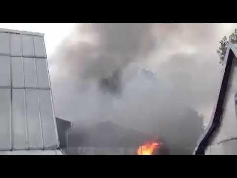 Пожежа цеху в Івано-Франківську