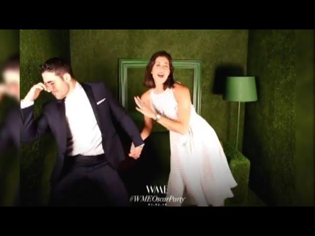 El divertido baile de Muguruza y 'El Duque' antes de la gala de los Oscar