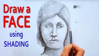 Draw a Face using Light and Shade