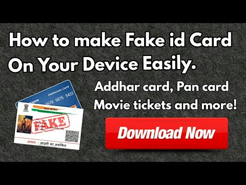 Make   Fake ID Card   Android   Free   100% working  