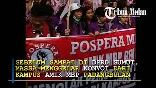 Mahasiswa AMIK MBP Geruduk DPRD Sumut Lantaran PLN Putuskan Pasokan Listrik ke Kampus
