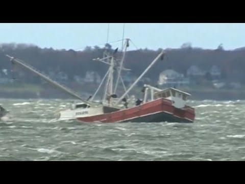 Fishermen Rescued As Boat Sank In Frigid Water