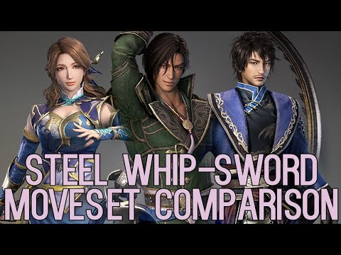DYNASTY WARRIORS 9 Steel Whip-Sword Moveset Comparison