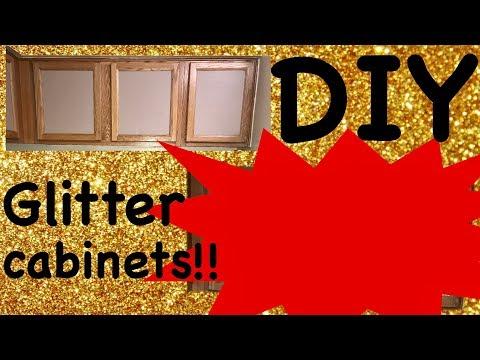 DIY TEMPORARY GLITTER CABINETS*