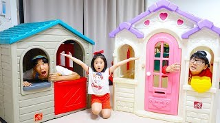 보람이의 플레이 하우스 조립 공구놀이 Boram build Playhouses for children