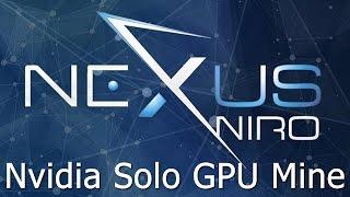 How to Solo Mine Nexus NXS Coin with Nvidia GPU