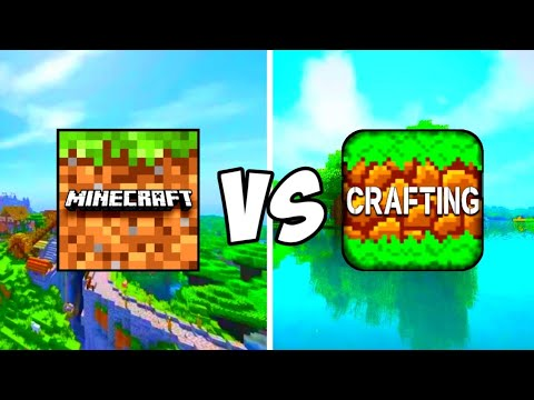 MINECRAFT POCKET EDITION VS CRAFTING AND BUILDING | MCPE VS CRAFTING