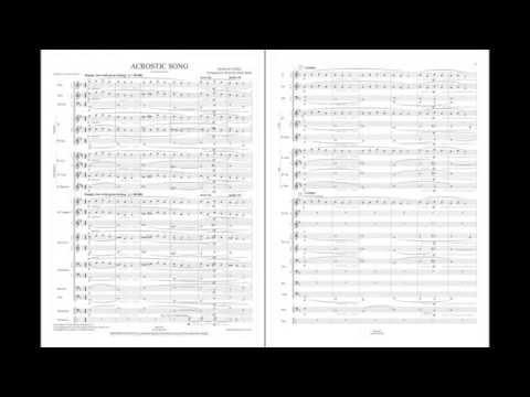 Acrostic Song  David Del Trediciarr Mark Spede