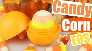 diy candy corn eos   using real candy corn   eos halloween lip balm