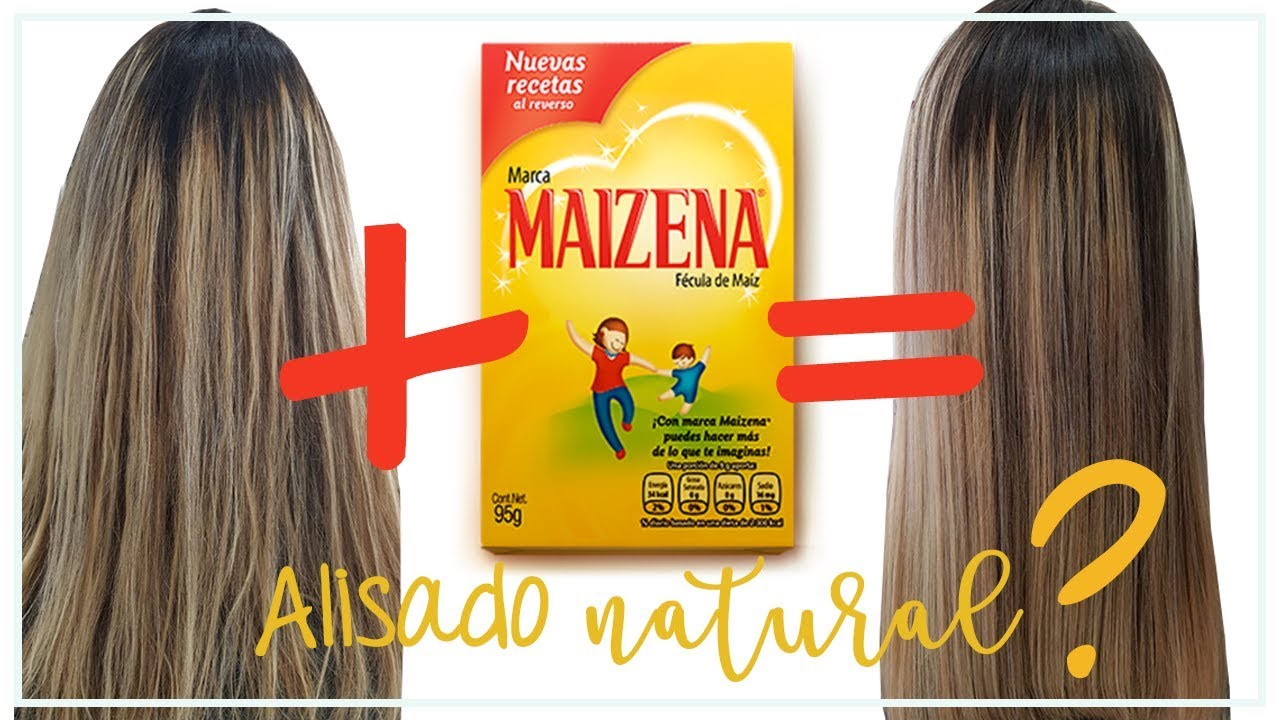 Cabello Liso Natural Con Maizena Hidrata Suaviza Da Brillo Y Quita El Frizz Youtube